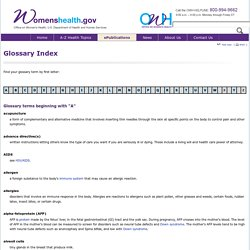 Glossary Index