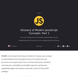 Glossary of Modern JavaScript Concepts: Part 1