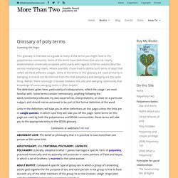Glossary of Polyamory Terms - More Than Two