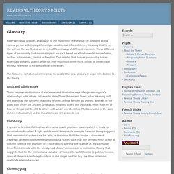 Reversal Theory Society
