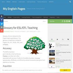 Glossary for ESL/EFL Teaching