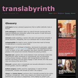 Glossary ‹ translabyrinth