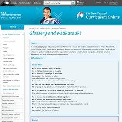Glossary and whakataukī / The New Zealand Curriculum / Curriculum documents