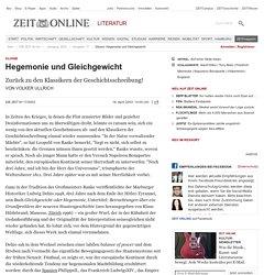 Glosse: Hegemonie und Gleichgewicht