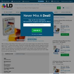 "LD Glossy Inkjet Photo Paper, with Sticker, 8.5x11"", 100 pack - LD Products"