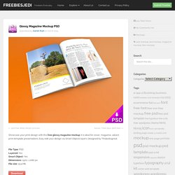 Glossy Magazine Mockup PSD - Freebiesjedi