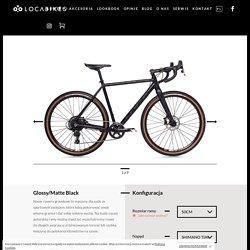Glossy matte black Gravel - LOCA Bikes PL