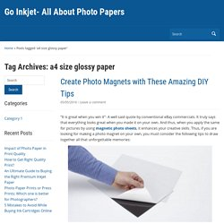 a4 size glossy paper