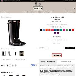 Glossy Welly Boots | Original Gloss | Hunter Boot