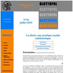 Glottopol, revue de sociolinguistique en ligne