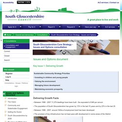 South Gloucestershire Online Consultations - South Gloucestershire Core Strategy - Issues and Options consultation - Issues and Options document