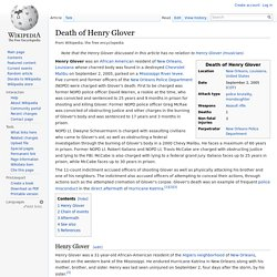 Death of Henry Glover