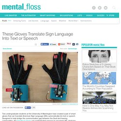 These Gloves Translate Sign Language Into Text or Speech