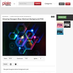 Glowing Hexagon Blue Abstract Background PSD