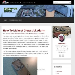 How To Make A Glowstick Alarm