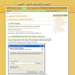 OCS/GLPI:Installation