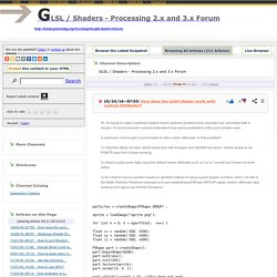 GLSL / Shaders - Processing 2.x and 3.x Forum