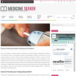 Blood Sugar Test, Glucose Testing Strips, Diabetes Test Strips