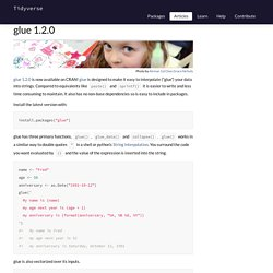 glue 1.2.0 - Tidyverse