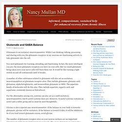 Glutamate and GABA Balance