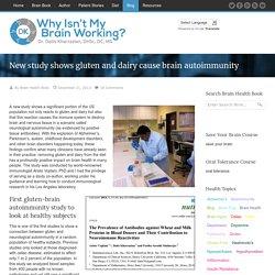 New study shows gluten and dairy cause brain autoimmunity