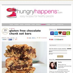 gluten free chocolate chunk oat bars - Hungry Happens!