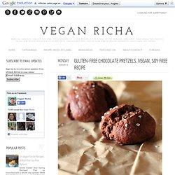 Gluten-free Chocolate Pretzels. Vegan, soy free recipe