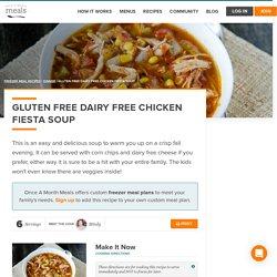 Gluten Free Dairy Free Chicken Fiesta Soup