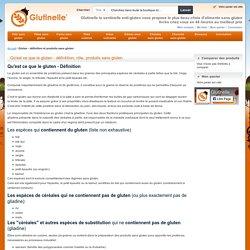 Gluten - définition et produits sans gluten