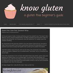 Gluten Free, Grain Free, Sandwich Wrap