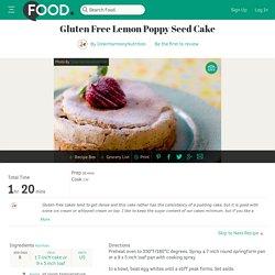 Gluten Free Lemon Poppy Seed Cake Recipe