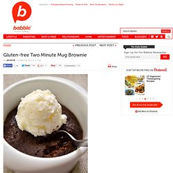 Gluten-free Two Minute Mug Brownie