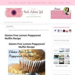 Gluten Free Lemon Poppyseed Muffin Recipe