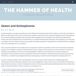 Gluten and Schizophrenia – The Hammer of Health
