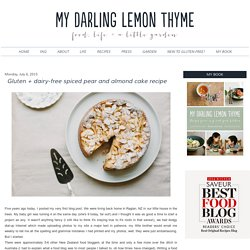 Gluten + dairy-free spiced pear and almond cake recipe