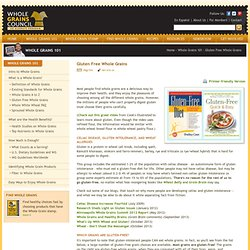 Gluten Free Whole Grains | The Whole Grains Council