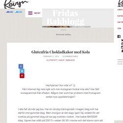 Glutenfria Chokladkakor med Kola – Fridas bakblogg