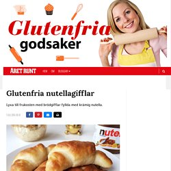 Glutenfria nutellagifflar
