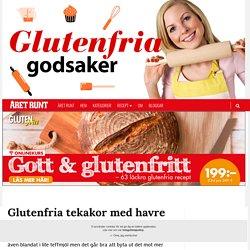 Glutenfria tekakor med havre