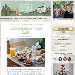 Glutenfritt bröd och veganska pålägg - Claras recept, Fika & Bakat - UnderbaraClara