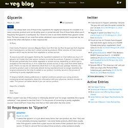 The Veg Blog