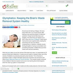 Glymphatics: Keeping the Brain's Waste Removal System Healthy
