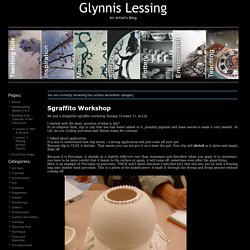 Glynnis Lessing » surface decoration