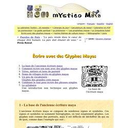 La base de l'ancienne écriture maya - page 1