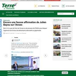 Encore une fausse affirmation de Julien Bayou sur l'Anses