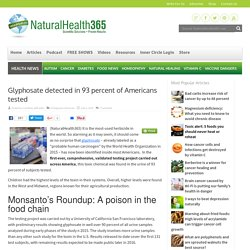 Glyphosate detected in 93 percent of Americans tested