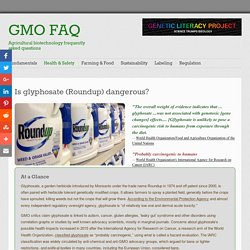 Is glyphosate (Roundup) dangerous? #GMOFAQ