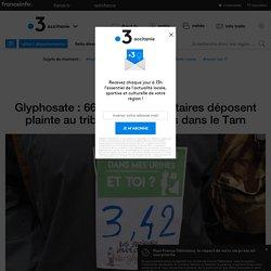 Glyphosate : 66 pisseurs volontaires déposent plainte au tribunal de Castres dans le Tarn