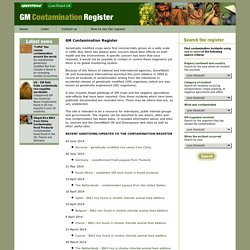 GM Contamination Register
