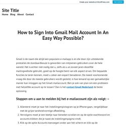 How to Sign Into Gmail Mail Account In An Easy Way Possible? – Site Title
